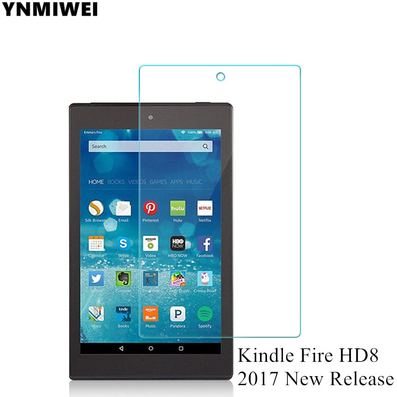 Tempered Glass For Amazon Kindle Fire HD8 2017 New Release HD Screen Protector Films For Kindle Fire HD 8 Screen Guard protective pet screen guard flim for kindle transparent