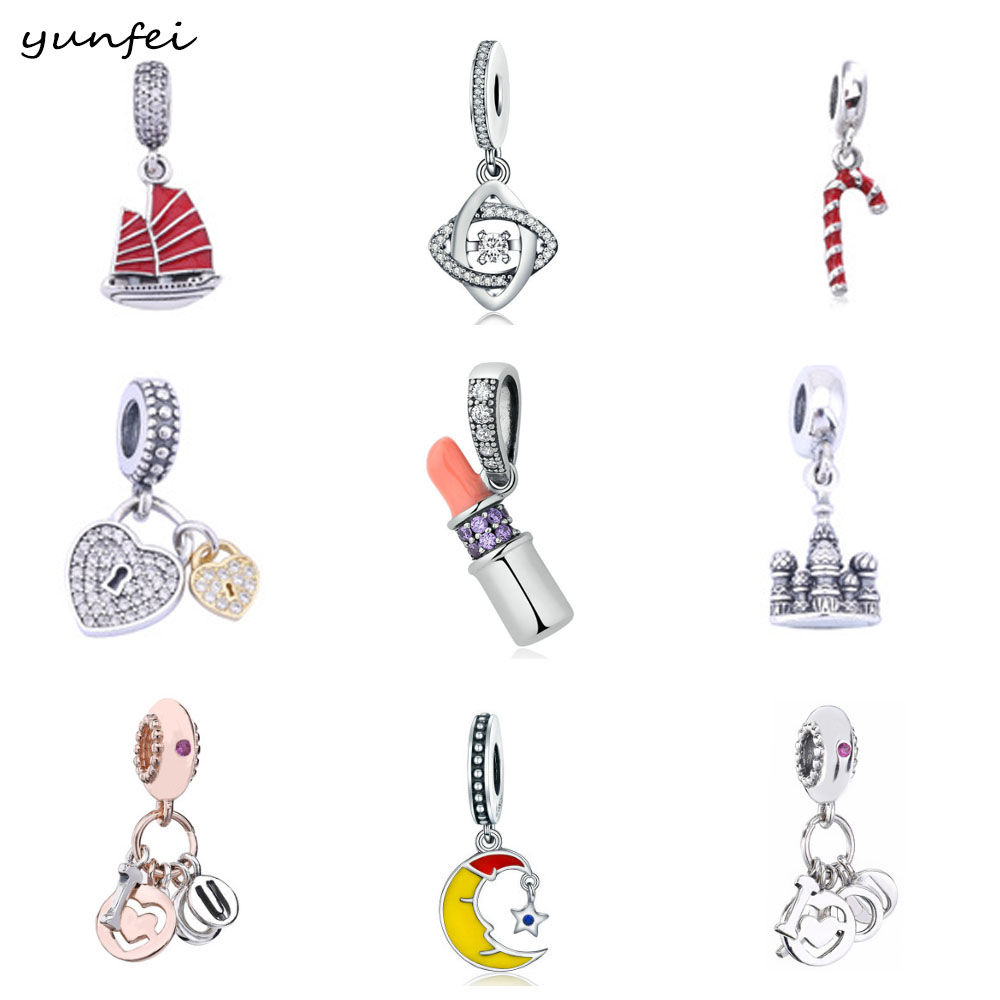 Fit Original Pandora Charm Bracelet 925 Sterling Silver Boy Girl Pendant Dangle Charm Beads Jewelry Making DIY Berloque