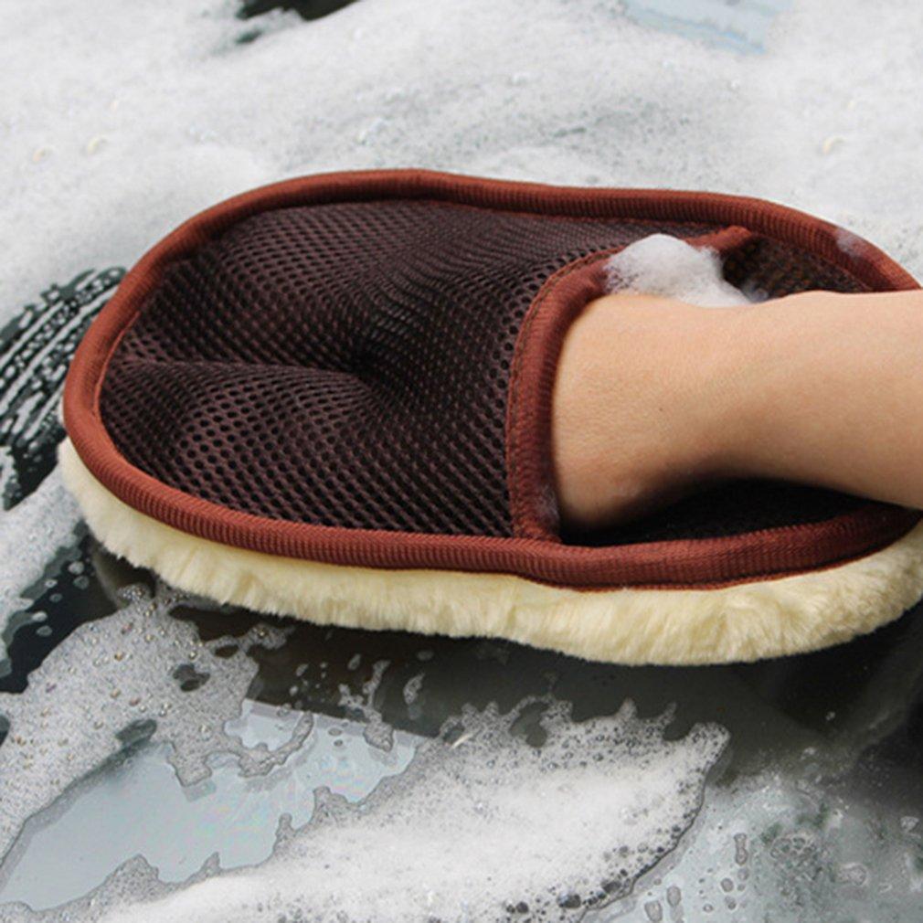 Único-face lã cashmere preto lavagem de carro luva de limpeza luva de lavagem de pano escova de lavagem ferramentas de limpeza de carro venda superior dropshipping