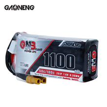 2PCS Gaoneng GNB 1100mAh 7.6V 50C/100C 2S1P LiHV battery XT30 Plug for FPV Racing Drone 4 axis RC Quadcopter RC Drone parts