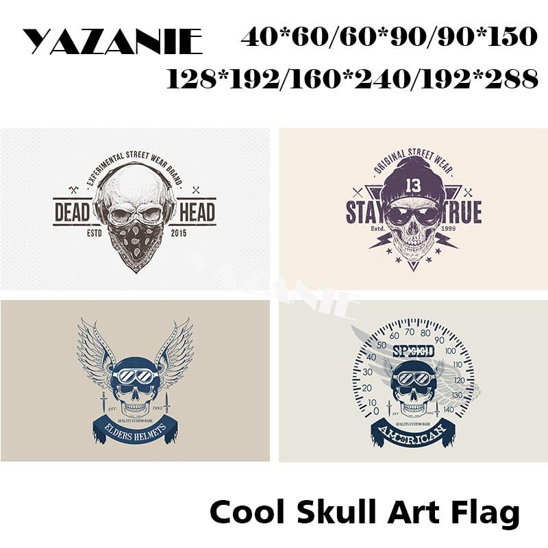 Skull with Fire Happy Halloween Celebration 5ft x 3ft Flag 150cm x 90cm