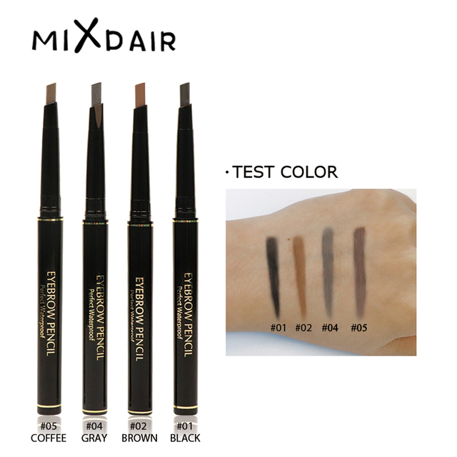 MIXDAIR 4 Colors Eyebrow Pencil Natural Waterproof Long Lasting Paint Tattoo Eye Brow Pen Eye Makeup Cosmetic 4
