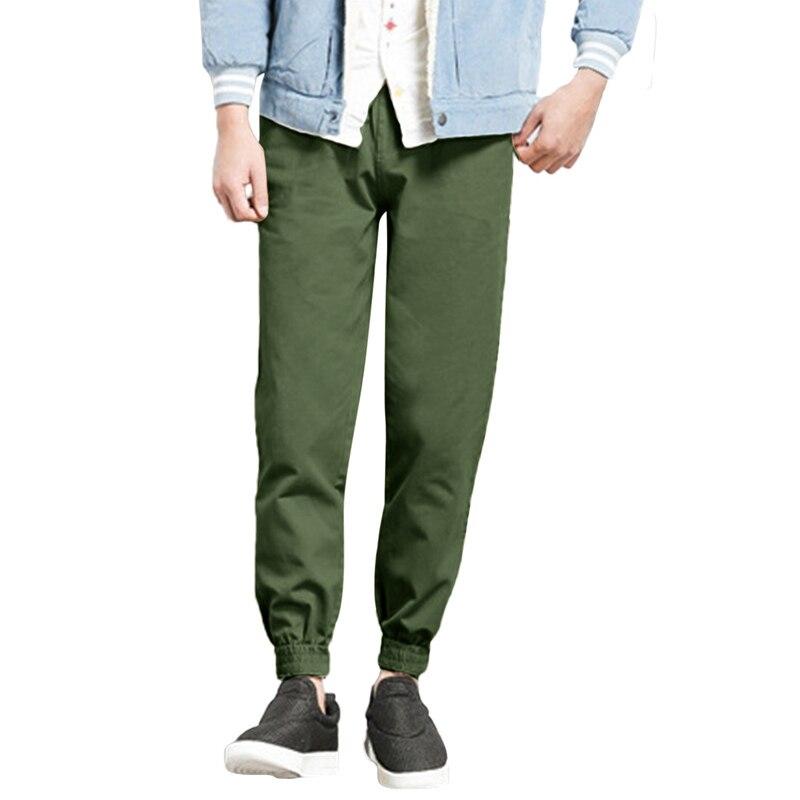 Mens Casual Pants 2018 Brand Clothing Cotton Long Pencil Pants For Men Slim Cuff Sweatpants Male Harem Sweats Trousers Slacks