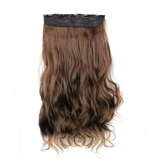 5Pcs Clip False Hair Synthetic Hair Extension  4