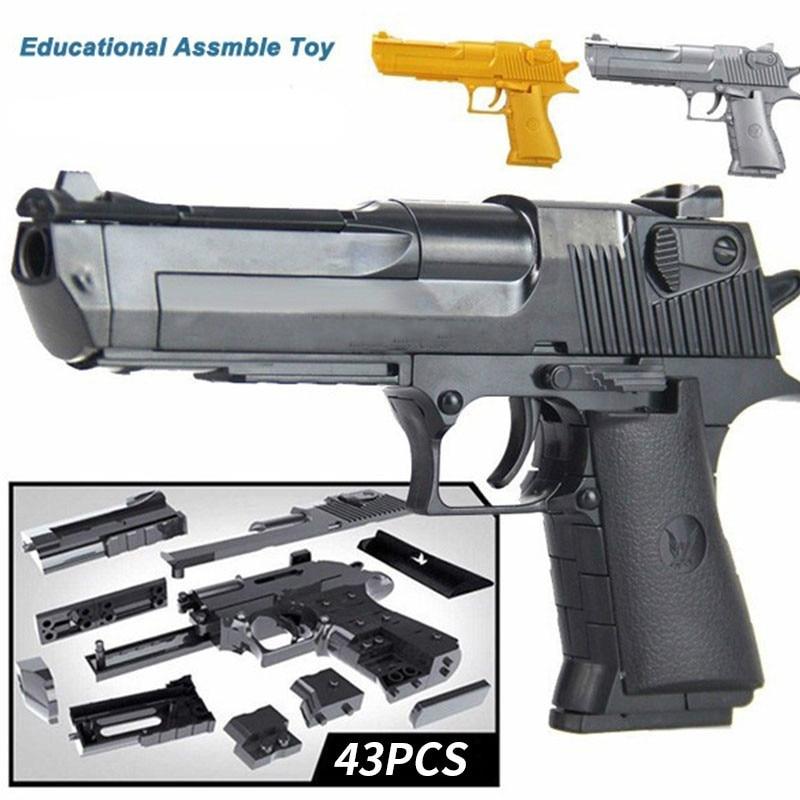 DIYの組み立てられた建物銃のおもちゃおかしいCSピストルおもちゃ子供子供ゴールドブラックシルバーホンダ500双子
