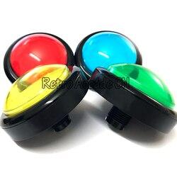 5 teile/los 100mm Taster Arcade-Taste 12 V Led leuchttaste mit Mikroschalter DIY arcade-spiel teile