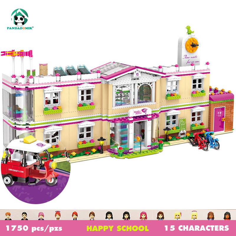 Super Large 1750pcs 15 Characters Figures Dolls Building Toy Blocks Bricks House Constructor Friends Princess Toys for Girls loz diamond blocks assembly display case plastic large display box table for figures nano pixels micro blocks bricks toy 9940