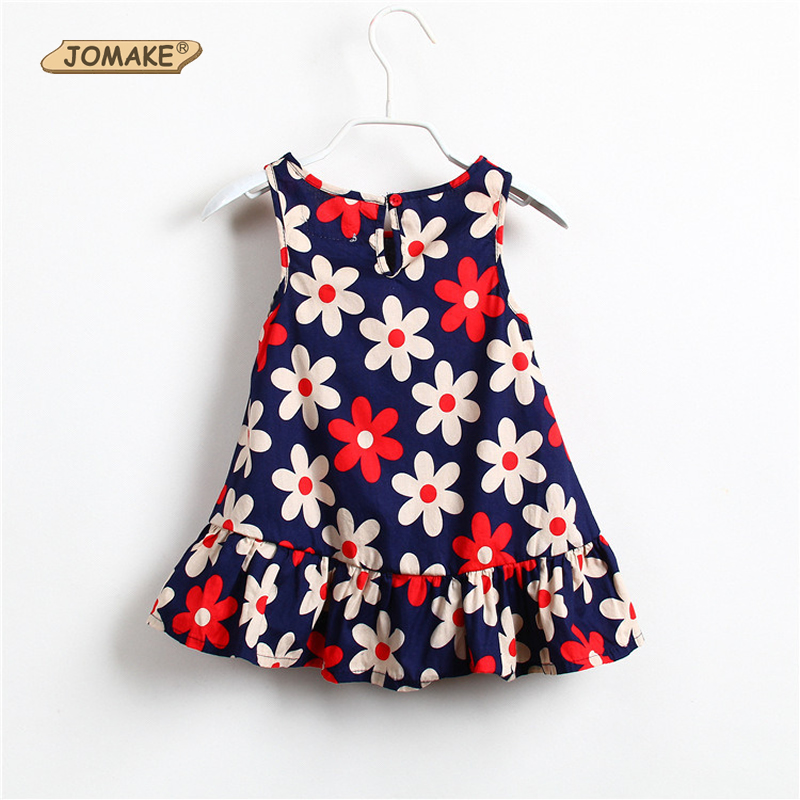 JOMAKE Kids Dresses for Girls Dress 2018 New Summer Girl Princess Dress Floral Sleeveless Beach Dress Easter Lucky Child Clothes kseniya kids toddler girl dresses 2017 brand new princess dress summer little girl dress sleeveless floral girls costume 2 10y