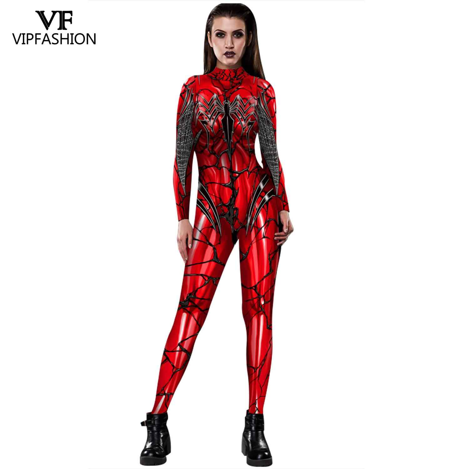 VIP FASHION Lycra Spider Cosplay Costume Superhero BodySuit  Zentai Iron Spider Jumpsuit For Halloween Costume