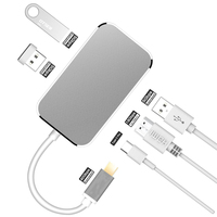 USB 3.1 Type C To HDMI USB C Adapter USB 3.0 Type C Adapter 4K HDMI Digital AV Multiport Adapter USB C HUB Adapter For MacBook