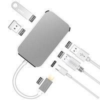 USB Type C To HDMI 1.4 USB 3.0 Adapter USB 3.0 Type C Adapter 4K HDMI Digital AV Multiport Adapter USB C HUB Adapter For MacBook
