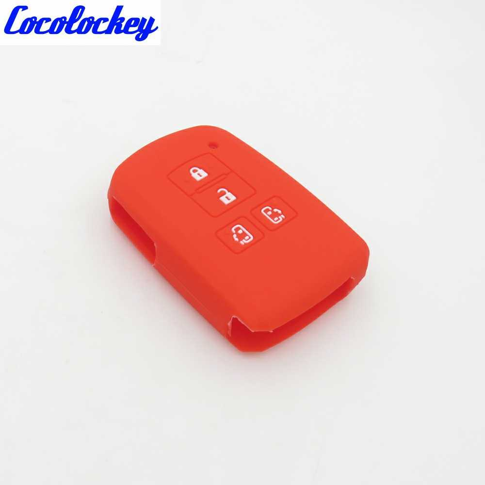 Cocolockey Silicone Car Key Cover Case Holder for Toyota Sienta Alphard  Voxy Noah Esquire Vellfire Harrier 4 Buttons Remote Key