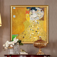 Portrait of Adele Bloch-Bauer Gustav Klimt Art Reproduction oil Painting Person Home Decoration Wall Pictures  art