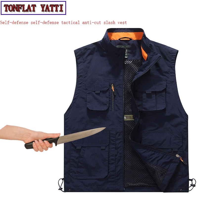 Self-Defense Tactical Anti-stab Cut Imitation Covert Stab Vest Military Swat Defensa  Leisure Protective Clothing Schutzweste