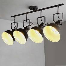 Vintage Lamp Ceiling Led Lights For Home Decor Industrial Chandelier Living Room Lighting Rust Black Wrought Iron Fixtures 220V