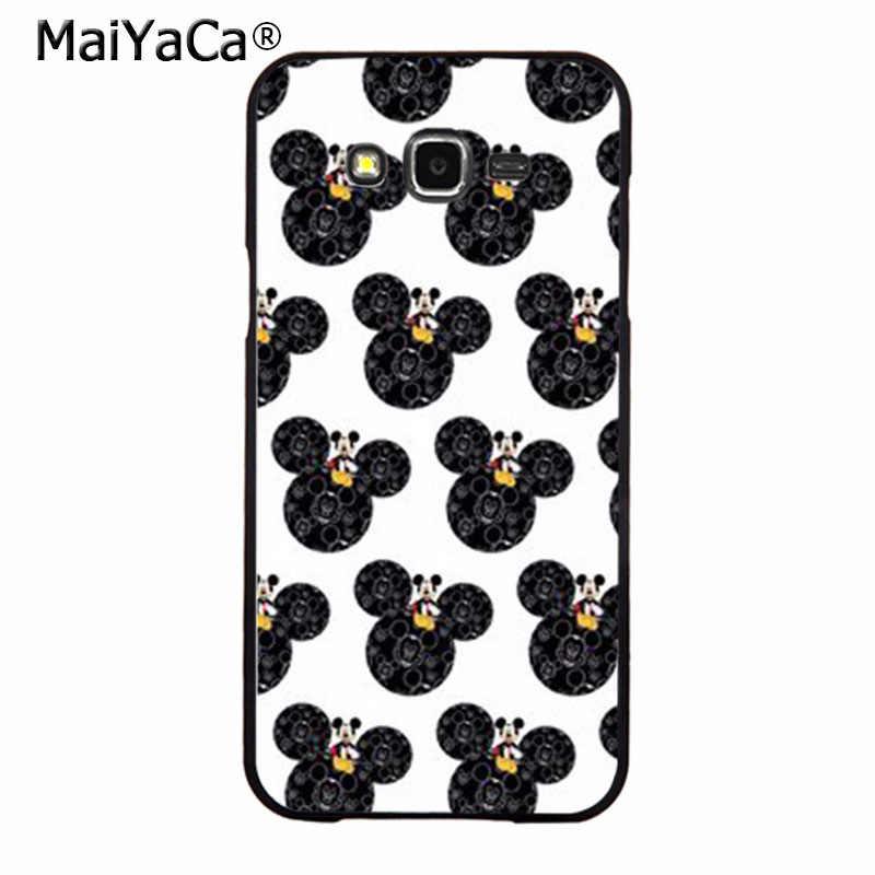 Maiyaca стильный Черный и белый цвета Микки Маус Роскошные модные чехол для сотового телефона Samsung 2015j1 J5 J7 2016 J1 J3 J5 J7 Note3 4 5