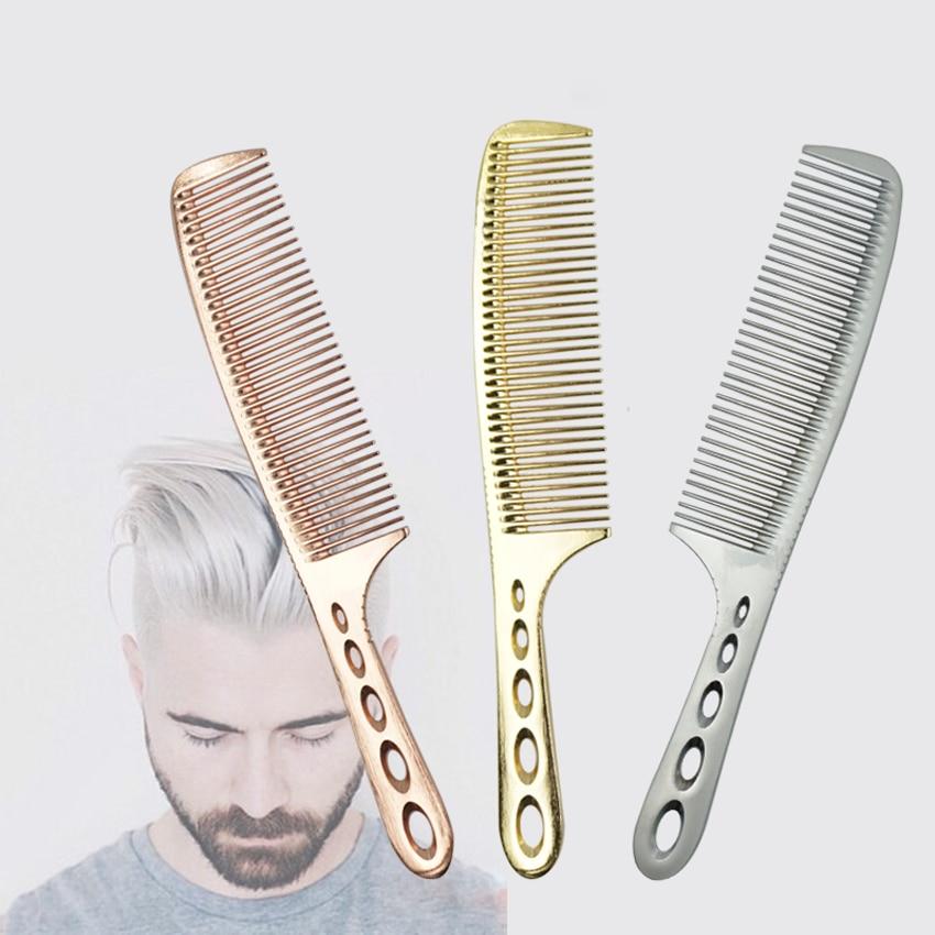 Professionell frisör Titanium Comb 3 Colors Hair Barber Man Haircut - Hårvård och styling - Foto 2