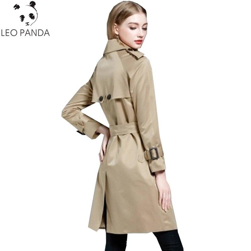 Trench-Coat Loose Female Khaki Double-Breasted Plus-Size Women Fashion 4XL Pea Long HF53