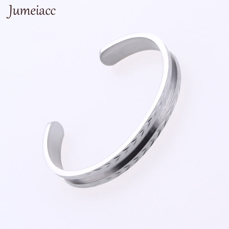 Jumeiacc Wavy Bracelets&Bangles Top Silver Rose Gold Color Brand Couples Simple Glaze Buckle Love Charm Bracelet For Women & Men