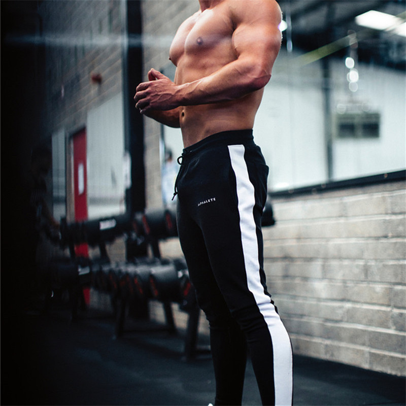 2019 Spring Men Pants Patchwork Bodyboulding Gyms Casual Brand Clothing Skinny Cotton Trousers Fitness Jogger Sweatpants