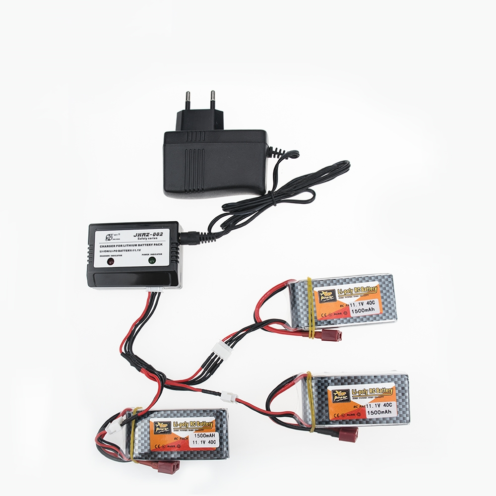 3pcs ZOP 11.1V 3S 1500Mah 40C Lipo RC Battery T / XT60 Plug With Charger Set For WLtoys V950 RC Car Airplane Drone Qudcopter lipo battery 7 4v 2700mah 10c 5pcs batteies with cable for charger hubsan h501s h501c x4 rc quadcopter airplane drone spare