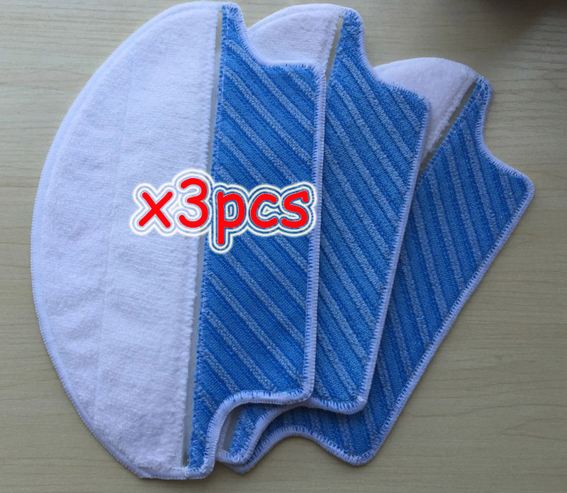 3pcs/lot Mopping Cleaning Mop for Ecovacs Deebot DT85/DT83/DM81/DM85 Replacement Robot Vacuum Cleaner Parts 5set vacuum cleaner parts replacement 5 hepa filter 5 cotton for ecovacs dibea dt85 dt83 dm81 vacuum cleaner parts