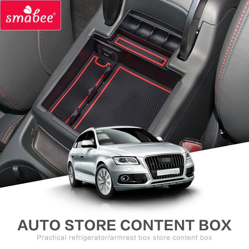 SMABEE AUDI Q5 Q3 jaoks 2009to2017 Käetugi Box Storage Car Keskne - Auto salongi tarvikud - Foto 2