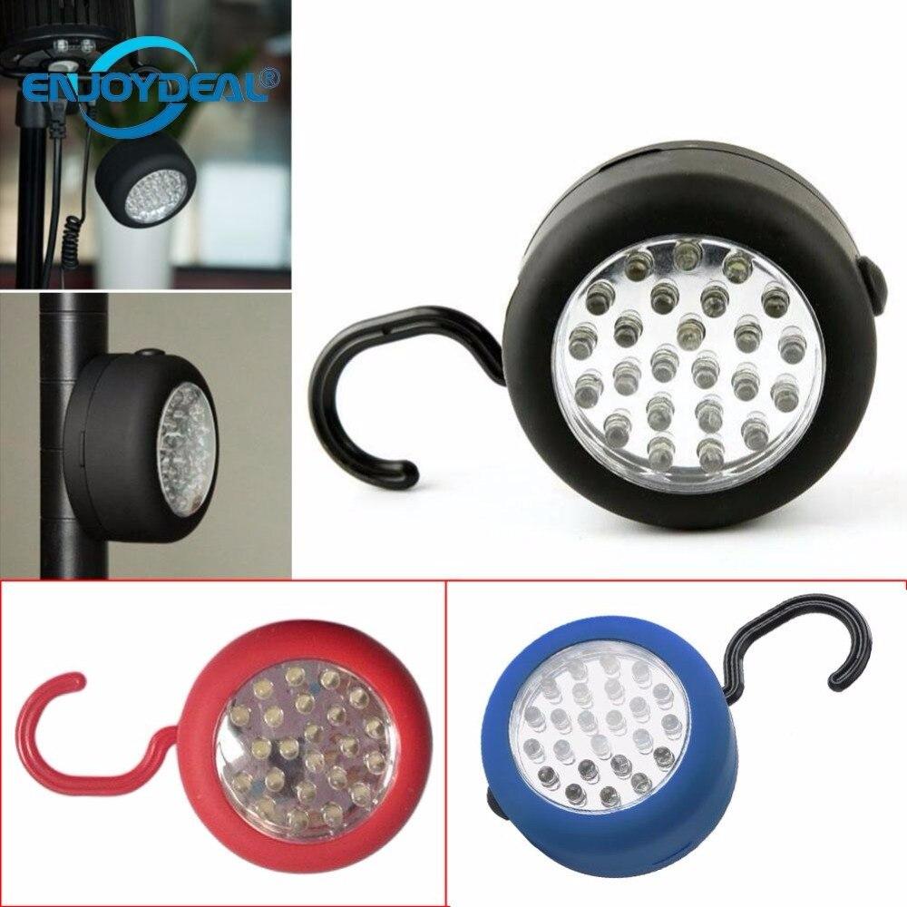 24 LED Portable Lantern Powerful Magnetic Camping Lamp Light Hook Garage Fishing