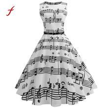Printed Musical Score Swing Dress