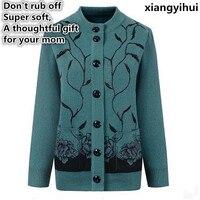 The High Quality Mother Sweater Fashion Hot Diamonds 80 Woolen Cashmere In Elderly Women Cardigan Big