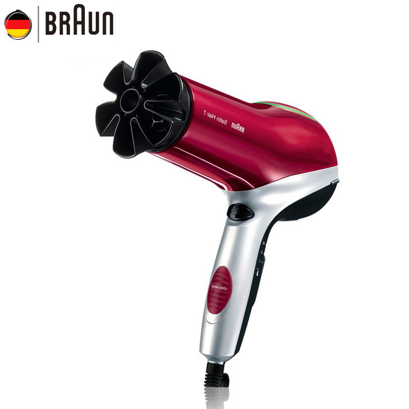 все цены на Braun Hair Dryer Hair Protector HD770 Hair Color Keeping 2200W AnIon Professional Hair Curly Tools Fast Drying Stylish Design онлайн