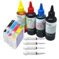 Cartucho de tinta t1281 recarga kit tinta completa para epson s22 sx125 sx130 sx235w sx420w sx425w sx435w sx438w sx440w sx445w sx445we|ink kit|refill ink kit|ink refill kit -