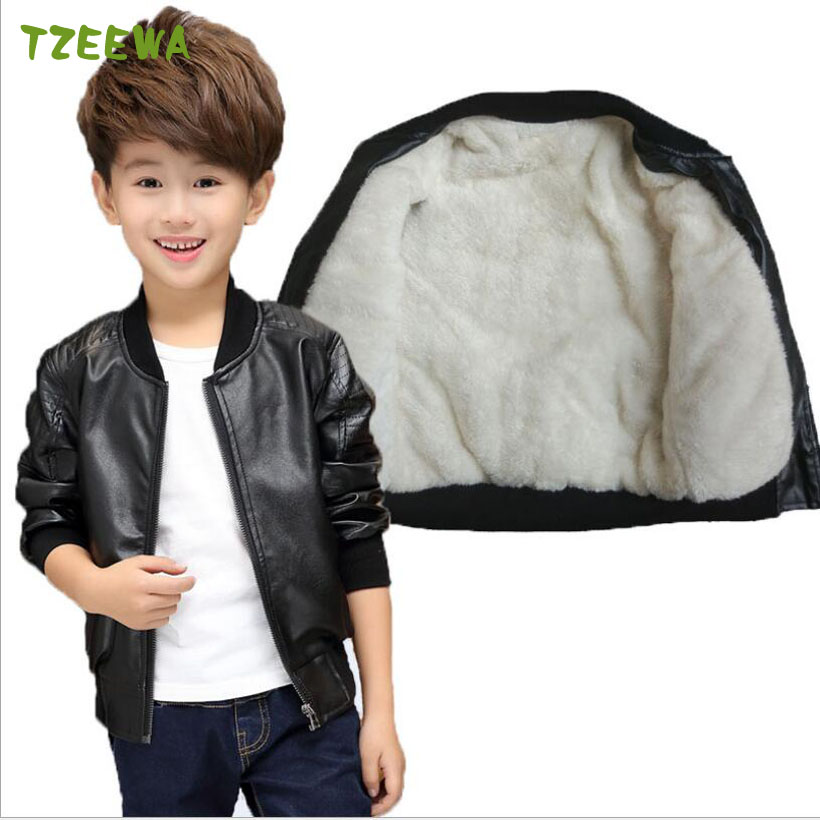 d8f99d28a Children Autumn spring Girls coats Fashion Hooded Leather Jacket ...