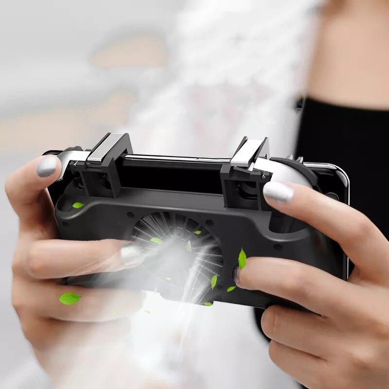 PUBG móvil Gamepad del regulador del juego gatillo objetivo botón L1R1 tirador Joystick para IPhone teléfono Android para el juego de Accesorios