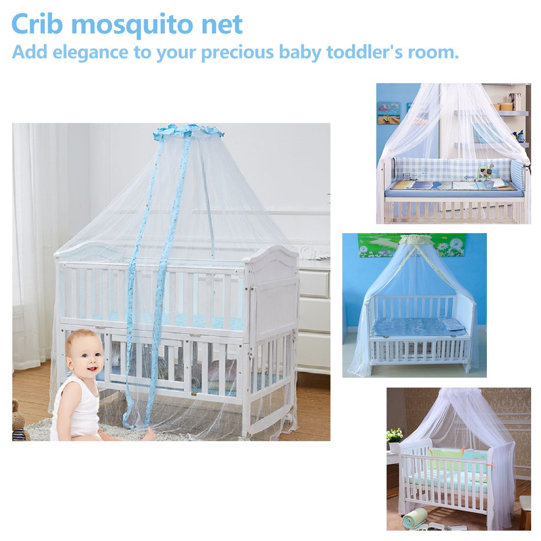 Baby Bedding Accessories Crib Mosquito Net Universal Open Door Crib Net Dome Court Type Landing Baby Net Bed Crib Bed Net