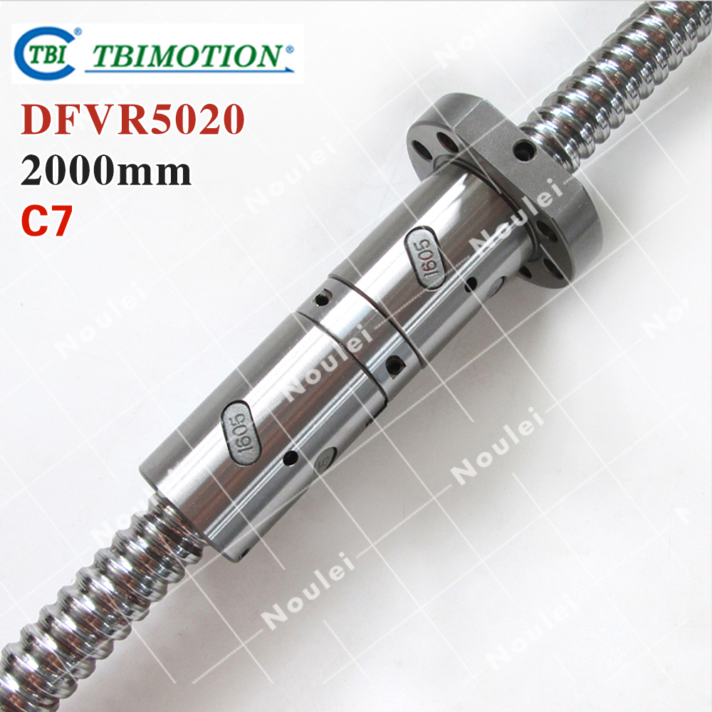 TBI ball screws5020 L= 2000mm + 1pcs Ball nut DFV5020 / C7 ROLLED DFVR5020 cnc part горелка tbi sb 360 blackesg 3 м