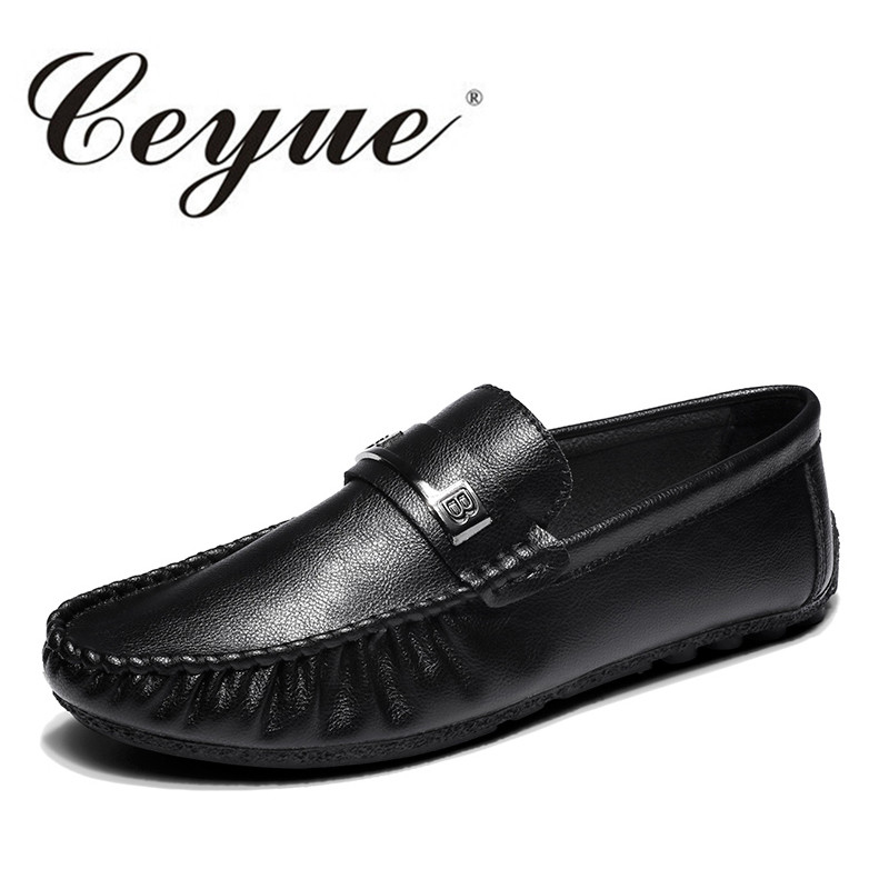 Ceyue Autumn New British Comfort Loafers Casual Slip-On Driving Loafers Men Low Heel Flat Outdoor Walking Shoes Zapatillas Homme new casual 2016 men canvas loafers flat rubber driving peas shoes outdoor zapatos low heel masculina sapatos lazy licht schoenen