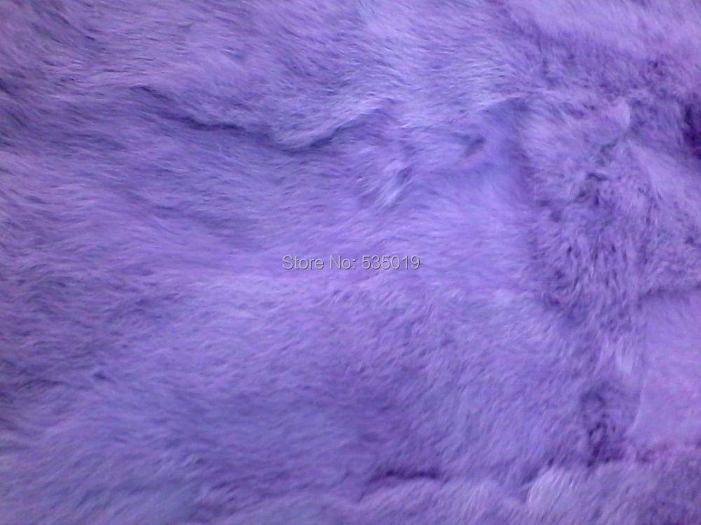 Luxueux tissu de fourrure véritable fourrure de lapin rouge violet et bleu 50 cm * 95 cm livraison gratuite