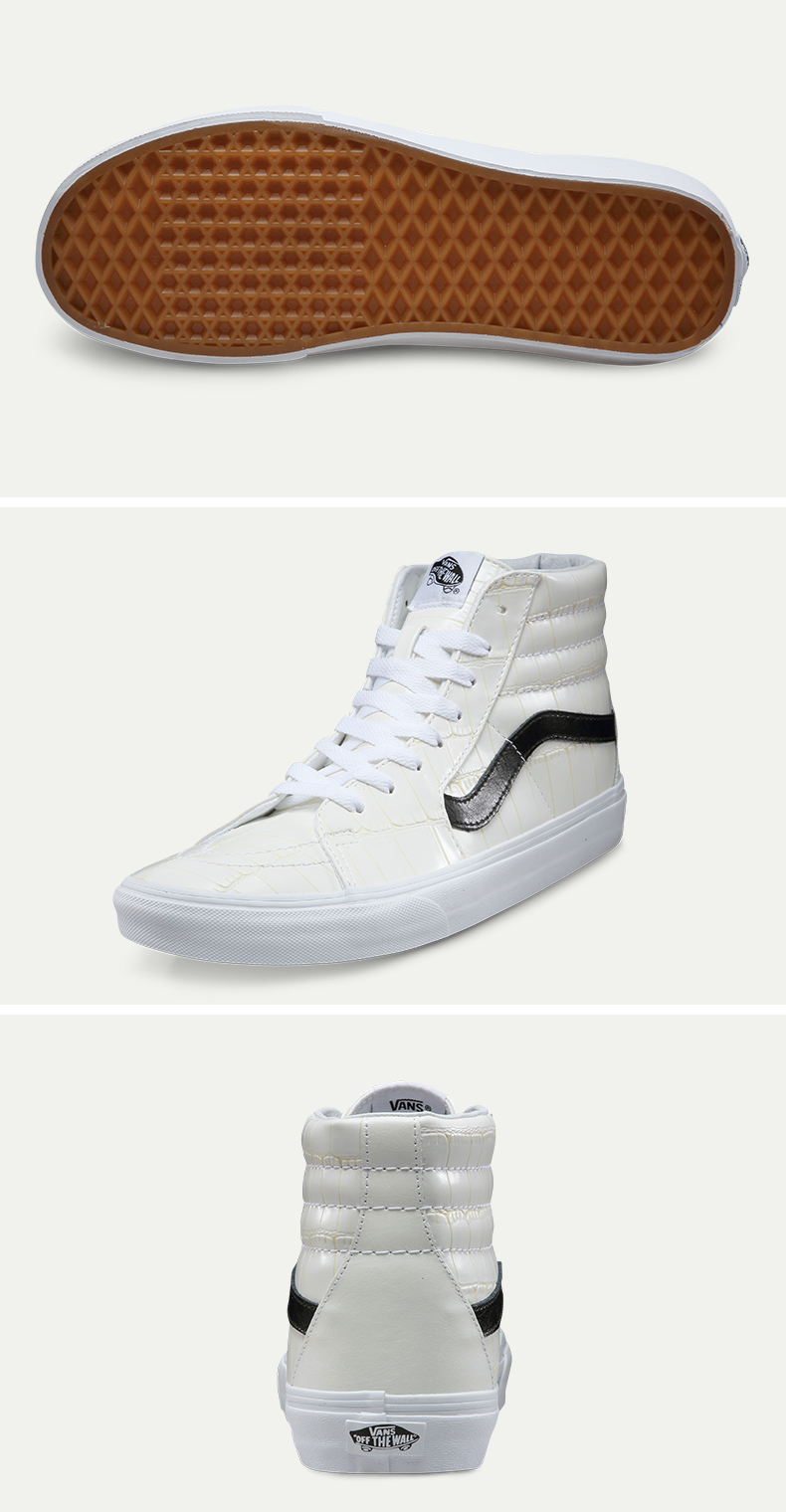 Original Vans Classic Vans Men's and Women's Unisex Sk8-Hi Skateboarding Shoes Sports Shoes Sneakers free shipping