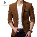 ZEESHANT XXXL Mens Blazer Slim Fit Suit Jacket Velvet 2017 Spring Autumn Outwear Suit Blazer For Men in Men's Blazers