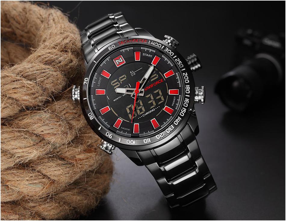 NAVIFORCE Waterproof Stainless Fashion Sport Watch for Men