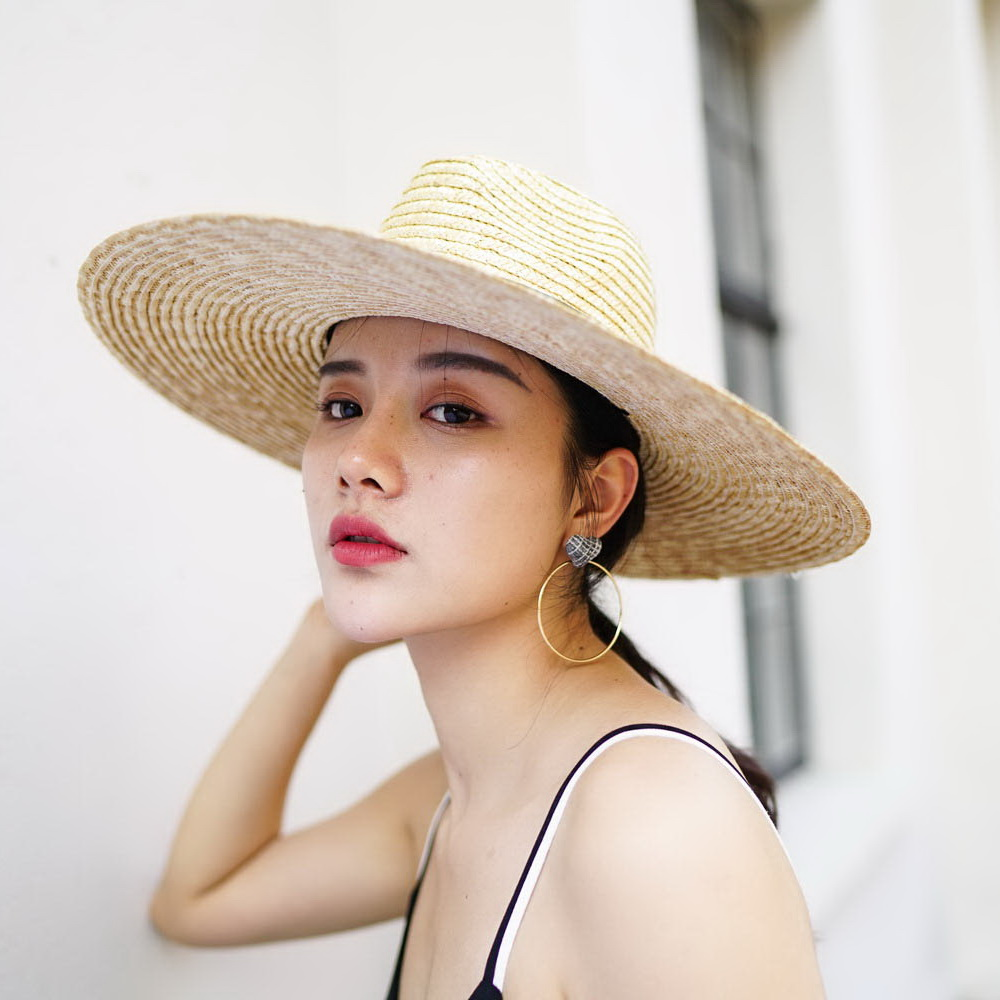Muchique Sun Hat X Large Brim Wheat Straw Panama Fedora Hat Summer Straw  Hats for Women Floppy hat with Ribbon Bow-in Sun Hats from Apparel  Accessories on ... de96e2de8c2a