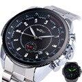 Vencedor dos homens Cinta de Aço Inoxidável Relógio Mecânico Automático Calendário Data Sub-dial Supersize NOVO DOS ESPORTES DA FORMA do PROJETO