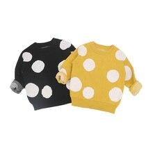 MILANCEl/ г.; Детские свитера для малышей; свитера в горошек для мальчиков; зимние свитера для девочек; вязаный детский пуловер; повседневная одежда для мальчиков; От 1 до 6 лет