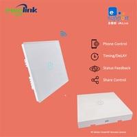 Ewelink App 1 Gang WiFi Wall Touch Switch RF433 Panel Sticker 85 250V IOS Andorid Phone