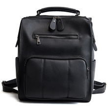 New retro style PU leather Mummy travel bag solid color womens backpack classic pop diaper simple girl