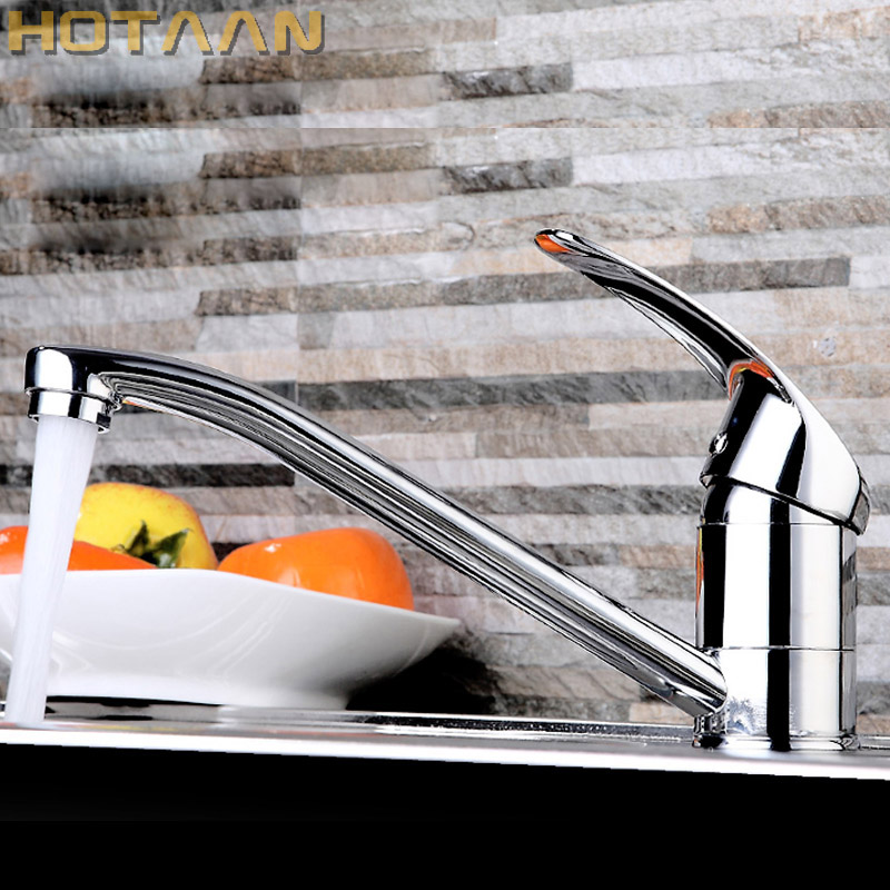 Free Shipping Modern Style Chrome Single Lever Kitchen Bathroom Sink Basin Faucet Mixer Tap,YT-6009