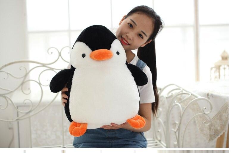 Peluche grand 45 cm mignon pingouin en peluche poupée, doux oreiller jouet, cadeau d'anniversaire c0335