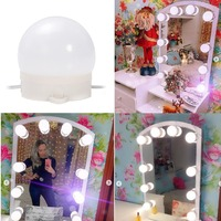 Makeup Mirror Lights Vanity Mirror LED Light for Big Makeup Table Set in Dressing Room 10 Pieces LED Vanity Light Bulbs