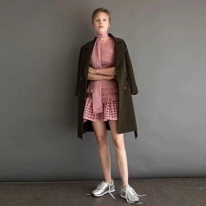 Розовое платье 2017 летнее женское платье неделя моды кроить нерегулярно – розовое мини-платье Kerst Jurk Dames